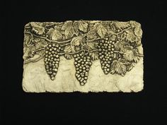 Grapes Ceramic Pottery Relief Fruit Sculpture by WilburtonPottery, $60.00