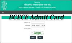 Bihar BCECE Diploma Entrance Test 2016 Polytechnic admit card , Roll Number   Bihar Combined Entra...