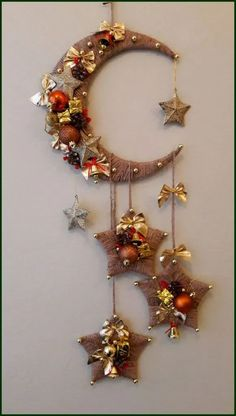 Diy Crafts - 100 Creative Christmas Decor for Small Apartment Ideas Which Are Merry & Bright - Hike n Dip Ramadan Crafts, Ramadan Decorations, Christmas Decorations, Ramadan Sweets, Diy Home Crafts, Decor Crafts, Holiday Crafts, Tree Crafts, Holiday Decor