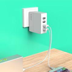 [$10.49] ORICO DCA-4U-V1 4 Ports  5V / 2.4A USB Charger for Smartphones, Tablets, Power Banks  EU Plug(White)