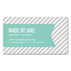 Gray and Aqua Modern Stripes and Ribbon Business Card Template. This is a fully customizable business card and available on several paper types for your needs. You can upload your own image or use the image as is. Just click this template to get started!