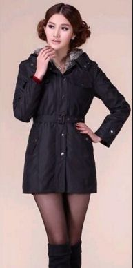 New #women# winter Hooded thick cotton-padded clothes #Women's patchwork #winter coat.