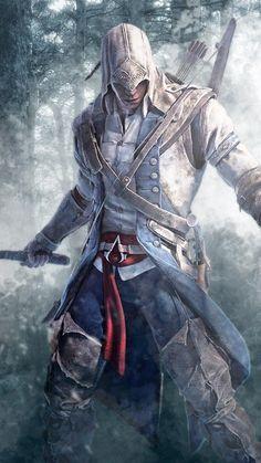 Connor Kenway from Assassins Creed Assassins Creed Tattoo, Assassins Creed Rogue, Assassins Creed Odyssey, Assassin's Creed Hd, All Assassin's Creed, Assassin's Creed Hidden Blade, Assassin's Creed Black, Assassin's Creed Wallpaper, Arte Steampunk