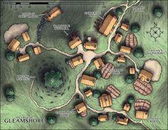 Village map (Gleamshore).
