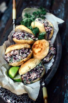 Always HUNGRY — Bean + Cheese Stuffed Arepas | Earthy Feast