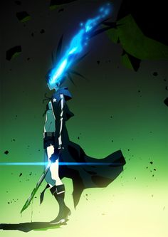 The moment she turned INSANE, killing her best friend, BRS, black rock shooter, anime, girl, miku, Day 11 | Black Rock Shooter by moxie2D