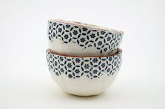 Two Ceramic Bowls - Vintage Look Pottery - Handmade Pottery - Pinch Pot - Terracotta - Ceramics and Pottery