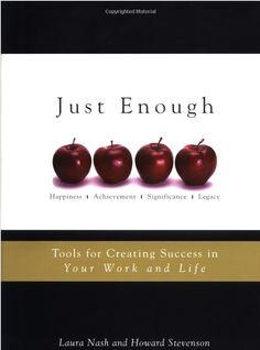 "Secret to Success: Go for ""Just Enough"""