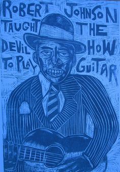 Robert Johnson Woodcut, $40