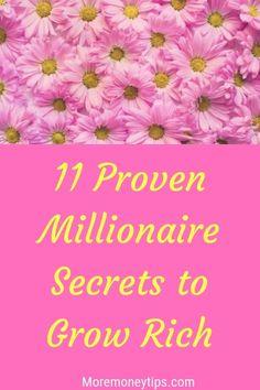 11 Proven Millionaire Secrets to Grow Rich. Secret To Success, The Secret, Money Tips, Money Saving Tips, Budget Binder, Budgeting Worksheets, Money Saving Challenge, Thing 1, Budgeting Money