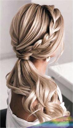 Long Hair Wedding Styles, Wedding Hair Down, Wedding Hair Flowers, Wedding Hair And Makeup, Long Hair Styles, Wedding Bride, Princess Wedding, Wedding Ideas, Wedding Updo