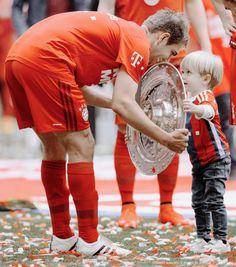 Philipp Lahm and his boy