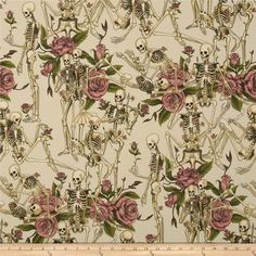 Nicole's Prints Life Little Pleasures Tea from @fabricdotcom%0A%0ADesigned by DeLeon Design Group for Alexander Henry, this cotton print is perfect for quilting, apparel and home decor accents.  Colors include cream, beige, tan, pink, brown and green.
