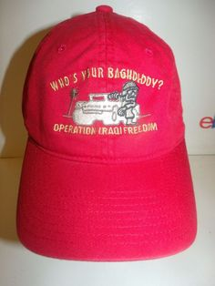 WHO'S YOUR BAGHDADDY OPERATION IRAQI FREEDOM FLEXFIT HAT CAP  #Unbranded