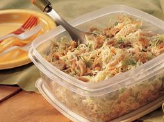 Crunchy Chicken Salad - This will be a crowd pleaser too.  All in one pan and ready in 15 minutes.  Click the pic for the recipe.  YUM!!!