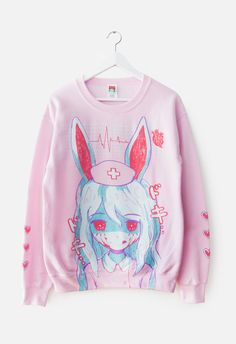 17ef25f1 NURSEBUNNY Sweater Harajuku Fashion, Kawaii Fashion, Cute Fashion, Fashion  Women, Creepy Cute