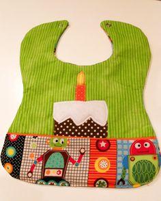 Custom Appliqued Bib Baby's 1st Birthday Boy bib by Stitchedbygigi, $18.00
