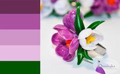 Nature Handmade Jewelry Flowers Spring Violet by OrxideykaStudio