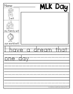 Martin Luther King Jr. FREEBIE { I Have a Dream }