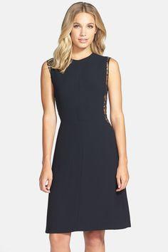 Jill Stuart Jill Jill Stuart Lace Inset Crepe Dress | Nordstrom Rack