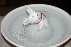 Ceramic Cat Fountain Handmade Foodsafe   Petunia by CatFountains, $220.00