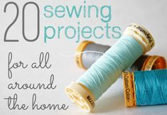 DIY:: 20 Beautiful Easy Sewing Projects for Home Decor ! by Gab Solórzano @ Shabby Creek Cottage Diy Sewing Projects, Sewing Projects For Beginners, Sewing Hacks, Sewing Tutorials, Sewing Crafts, Craft Projects, Sewing Patterns, Sewing Tips, House Projects