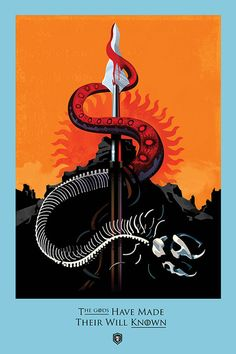 """""""The Mountain and the Viper"""" - Beautiful Illustrated Posters for Every Episode…"""