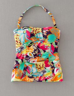 I've spotted this @BodenClothing Ruched Tankini Top Multi Jungle Flower