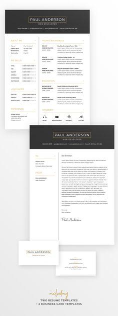 Resume Template Cv Pinterest Modern resume template, Modern