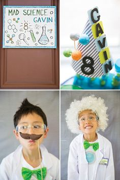 A Mad Science Birthday Party Experiment