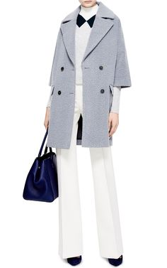 This richly textured, double-breasted wool coat from MSGM warmly invites fall's brisker temperatures. Tailored Coat, My Shopping List, Vivetta, Oversized Coat, Msgm, Wool Coat, Wool Blend, Style Inspiration, My Style