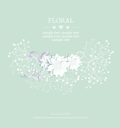 free - Paper flowers background vector 04