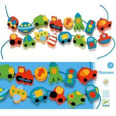 rijgkralen voertuigen | djeco