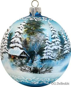icu ~ Winter Wonderland - Harbor Light Limited Edition Numbered - in the Series; Handcrafted Classic S ~ Winter Wonderland - Harbor Light Limited Edition Numbered - in the Series; Old World Christmas, Noel Christmas, Christmas Baubles, Holiday Ornaments, Christmas Tree Decorations, Christmas Crafts, Glass Christmas Balls, Painted Christmas Ornaments, Hand Painted Ornaments