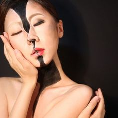 """Kissing myself.  #painting, #makeup, #modeling, #photograph all made for myself.  Inspired by Amnesty International Campaign """"My body, My Rights""""  #trickart#illusion#surreal#bodypainting#bodypaint#artwork#handwork#anamorphic#미술"""