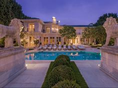 French pool and hardscapes