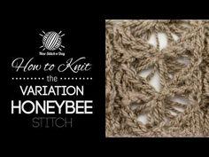 The Variation Honeybee Stitch :: Knitting Stitch #182 :: New Stitch A Day