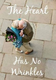 Wrinkles are Hereditary. Parents Get them from their Children Wrinkles are the Survival lines of Life. Each one hold A Story, A Laugh or a Memory. I Smile, Make Me Smile, Growing Old Together, Old Couples, Elderly Couples, Mature Couples, Young Couples, Old Age, Young At Heart