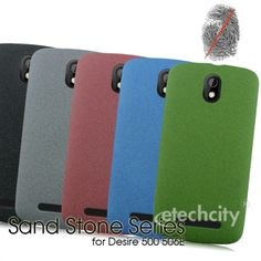Sand Stone Series #Anti-Fingerprint #PC Case for #HTC 506e(Desire 500) [PCAF-HTC506E] - $15.00