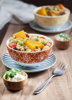 Vegan Gluten-free Green Chickpea Edamame Pasta Salad from Allyson Kramer
