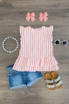 Savannah Stripe Ruffle Top Blush Pink Girl outfits Source by cbreannen Toddler Fashion Blush cbreannen girl Outfits pink Ruffle Savannah Source Stripe Top Trendy Toddler Boy Clothes, Toddler Girl Style, Little Girl Outfits, Cute Outfits For Kids, Little Girl Fashion, Toddler Girl Outfits, Cute Baby Clothes, Toddler Fashion, Fashion Kids