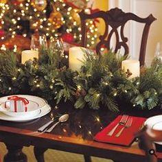 Christmas dinner display