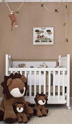 Quartos de bebê: tendência safari para quartos de meninos