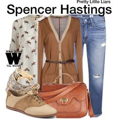 Inspired by Troian Bellisario as Spencer Hastings on Pretty Little Liars.