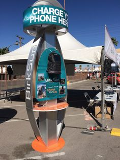 Station #1 keeping smartphones charged outside the BirkSun booth at the Life is Beautiful Festival in Las Vegas.