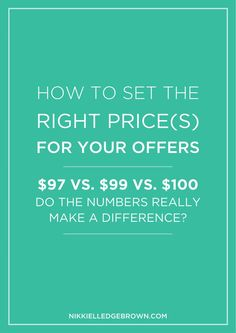 Silly as it may seem, if you do alllllll that work to showcase the best of what you've got to offer, then close your eyes and throw a dart at a pricing list, it's VERY likely that you're missing out on business. So let's talk about it for a few.
