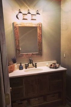 Handmade Rustic Mirror Bathroom Vanity By Lulight