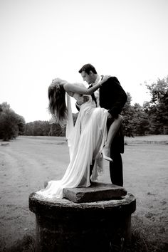 sexy wedding shot on pedestal