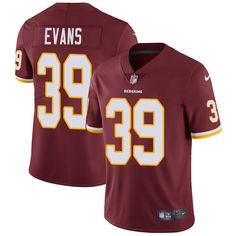 Youth Nike Washington Redskins #39 Josh Evans Burgundy Red Team Color Vapor Untouchable Limited Player NFL Jersey