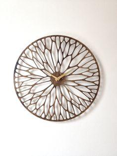 Wandering Clock. Mid Century Modern Laser Cut от SarahMimoClocks, $150.00